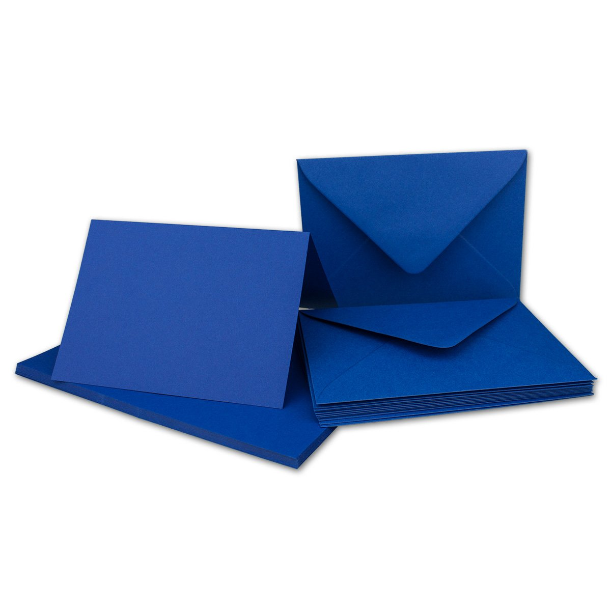 Faltkarten Set mit Brief-Umschlägen DIN A6   C6 in Rosanrot   100 Sets   14,8 x 10,5 cm   Premium Qualität   Serie FarbenFroh® B076TF1789 | Kostengünstig