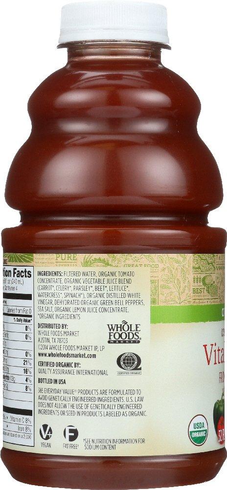 Amazon.com: 365 Everyday Value, Organic 100% Juice, Vital Veggie, 32 ...