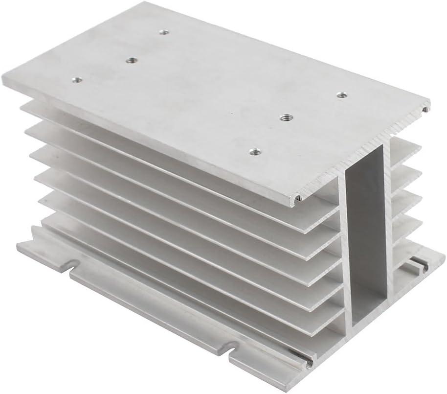uxcell Aluminium Heatsink Cooling Fin Cooler 100mm x 80mm x 150mm Silver Tone