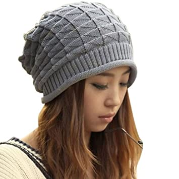 2abe8a247 Amazon.com  LIFECART Women Girl Slouchy Knit Beret Beanie Hat Cap ...