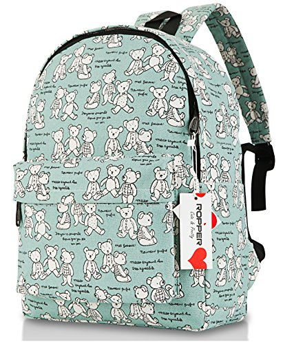 Ropper Lightweight Canvas Pattern Backpack