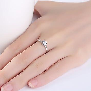 Amazon.de: Ring Female S925 Silber Sechs Klaue Ring Offener ...