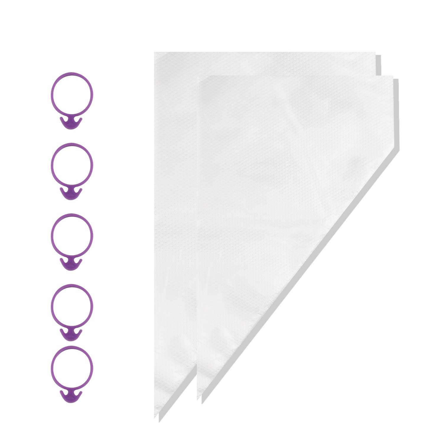 Shitailu 200pcs Pastry Bag,16-Inch Thicken Large Cake Decorating Bags, Disposable Icing Piping Bags Set with 5 Icing Bag Ties