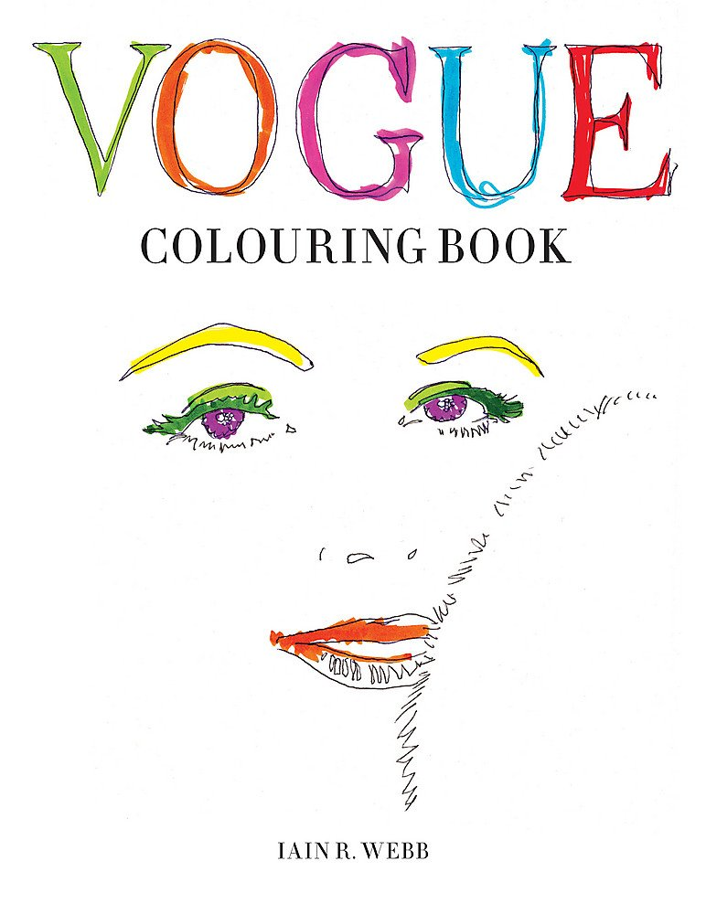 Vogue Colouring Book Amazoncouk Iain R Webb 9781840917215 Books