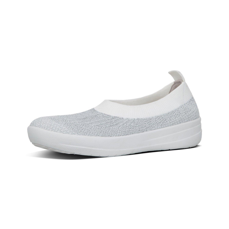 FitFlop Slip Damen Überknit TM Ballerina Slip FitFlop On Sneaker 3db265