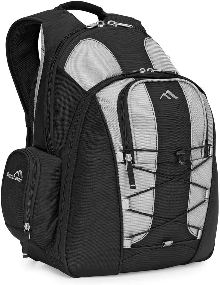 Brenthaven Tred Expandable Travel Backpack Urban Active Bag Fits 15 inch Chromebooks, Laptops - Titanium, Durable, Ergonomic, Professional Multifunctional Protection from Impact and Compression