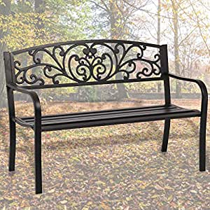 Admirable Garden Bench Outdoor Bench Patio Bench Cushions For Outdoors Metal Porch Clearance Work Entryway Steel Frame Furniture For Yard Machost Co Dining Chair Design Ideas Machostcouk