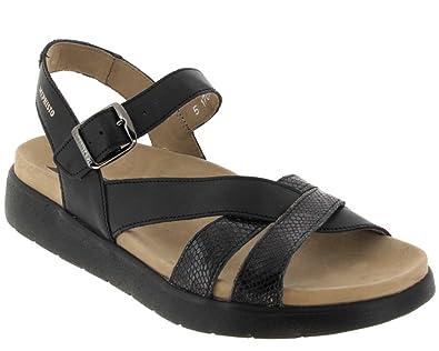 335a8fef39f MEPHISTO ODELIA - Sandales   Nu-pieds - Black - Femme - T. 36