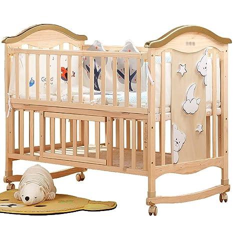 Canqingqing Cuna de bebé multifunción de Madera para bebé ...
