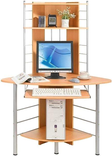 Scrivania Porta Computer Angolare.Techly 305717 Scrivania Per Computer Angolare Faggio Faggio Amazon It Casa E Cucina