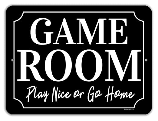 Froy Game Room Play Nice Or Go Home Cartel de Chapa de Pared ...