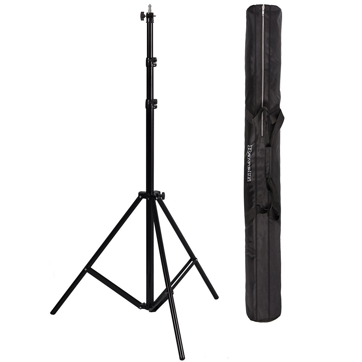 Ravelli ALS Full 10' Air Cushioned Light Stand With Included Adaptor To Also Support 1/4'' and 3/8'' Photo Equipment and Heavy Duty Carry Bag