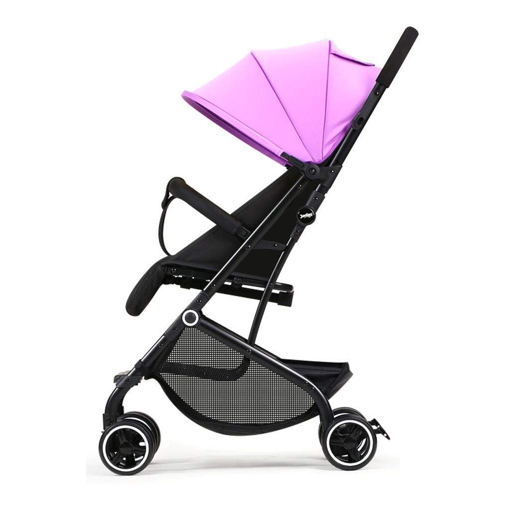 RJJX Home Baby Stroller Lightweight and Stylish Stroller High Landscape Can Sit and Place Five-Point Seat Belt Stroller, 5 Colors Optional (Color : Purple) by RJJX Home