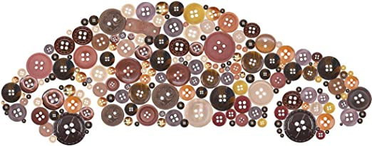 70-2000 MIXED ORANGE BUTTONS VARIETY SHAPES SIZES ART CRAFT SEWING DESIGN
