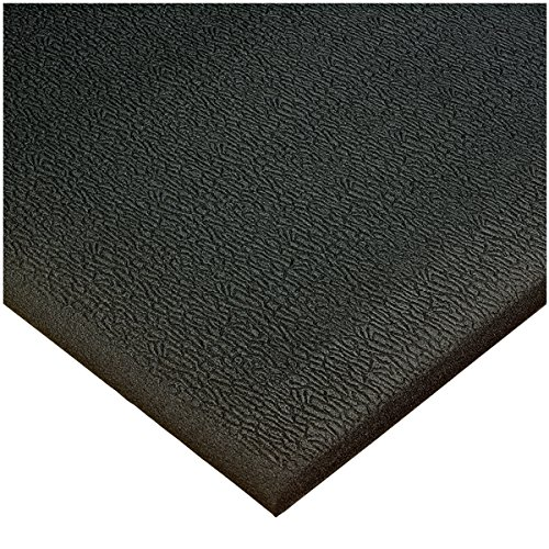 American Floor Mats High Energy Black 4' x 15' Anti-Fatigue 3/8 inch Thickness Comfort Mat