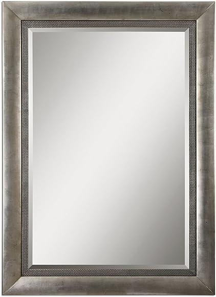 Intelligent Design Classic Oversize Silver Mirror | Wall Floor Leaner Huge