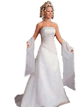 w05 white size 12-24 wedding reception bride evening dresses party full length prom gown
