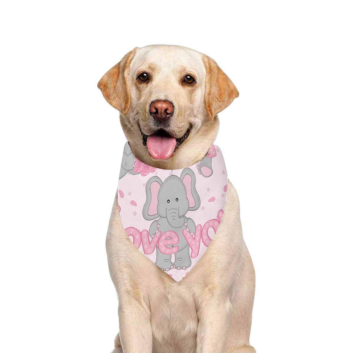 INTERESTPRINT Balloon Hearts Valentines Pet Dog Bandana Scarfs