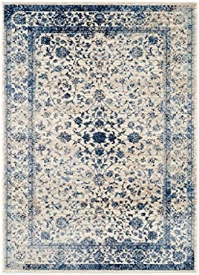 Amazon Com Persian Rugs 2817 Distressed Ivory 8 X 10 Area Rug Carpet Large New Furniture Decor