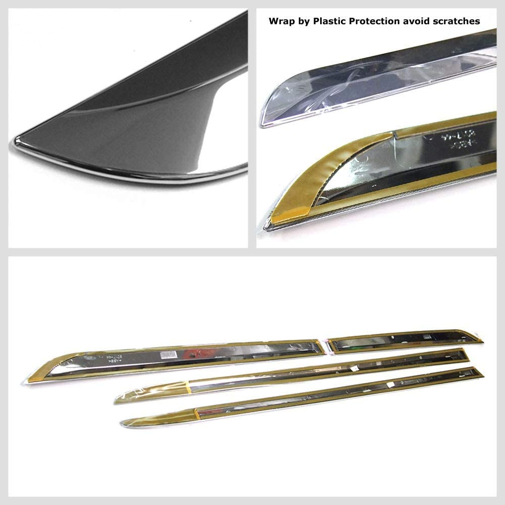 UrMarketOutlet Silver Chrome Stick-on Body Side Molding Door Trim Body Protect Work with 10-20 Chevrolet Equinox