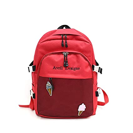 c65640c084 Image Unavailable. Image not available for. Color  JAGENIE Fashion Women  Nylon School Bag Girls Backpack Travel Big Capacity Rucksack Bags Red