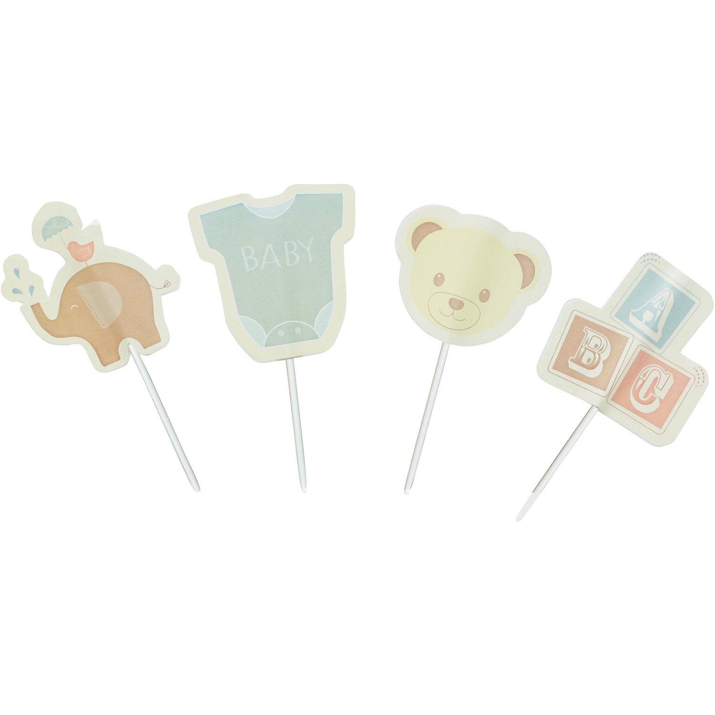 Fa Dolcemente It Baby Kit Cupcake Tema di Decorazione 48 Pezzi