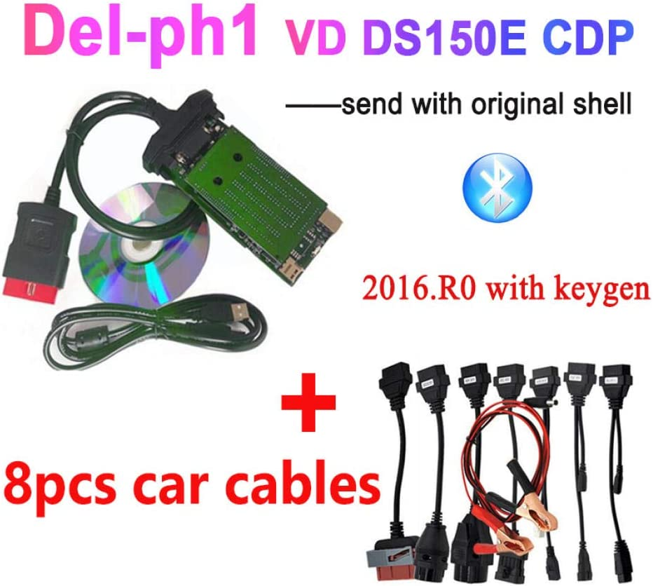 Cars Trucks Diagnostic Scanner With Bluetooth GQF Ds150 Ds150E Tcs Vci With Two Pcb Board Professional Diagnostic Tool Obd-Ii 16Pin For Petrol And Diesel Vehicles Cdp Pro
