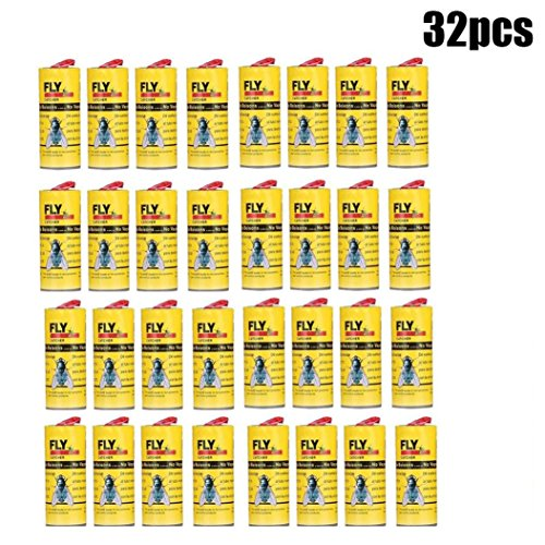 Xindda Pack of 8 Flies Sticky Catcher, Insect Killer, Fly Bug Trap Glue Paper - Effective to Kill Flies [No Poison]