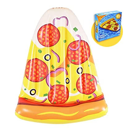 Amazon.com: Inflable Pizza flotadores de piscina, verano ...