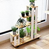 LIZX Artificial Board Balcony Flower Stand Multi-storey Interior Storage Racks Multi-purpose Flower Pot Display Stand Floor-type Multi-meat Flower Stands ( Color : A )