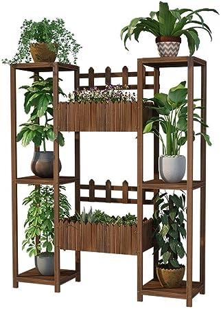 ZWJ J-Soportes para Plantas Escalera para Flores De Madera con 3 Niveles Balcón Estantería Decorativa con Flor Cubo Soporte para Planta (Size : 120cm): Amazon.es: Hogar