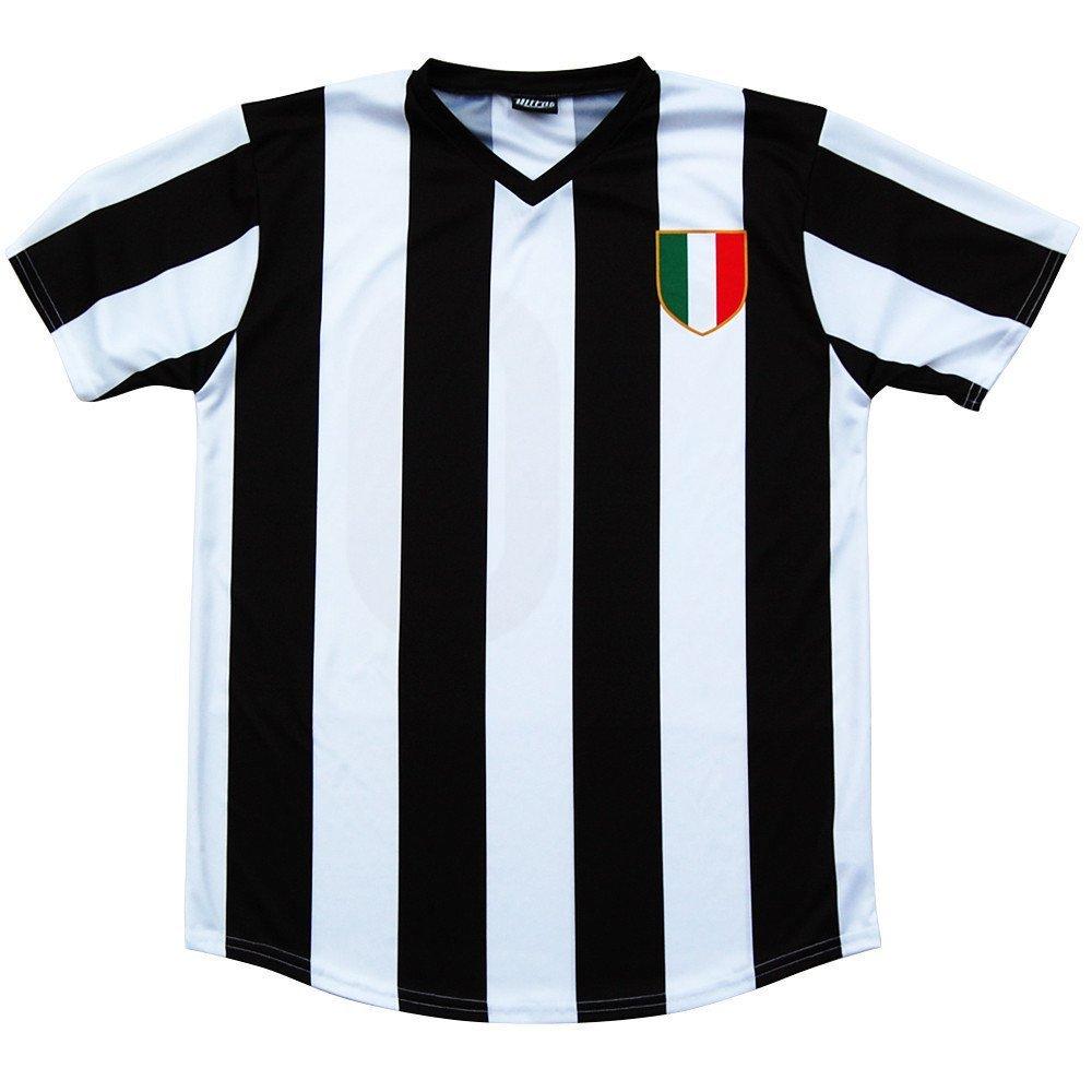 Black and White Juventus Retro #10 Soccer Jersey XXX-Large