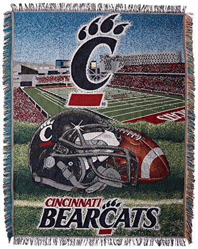 The Northwest Company Officially Licensed NCAA Cincinnati Bearcats Home Field Advantage Woven Tapestry Throw Blanket, 48