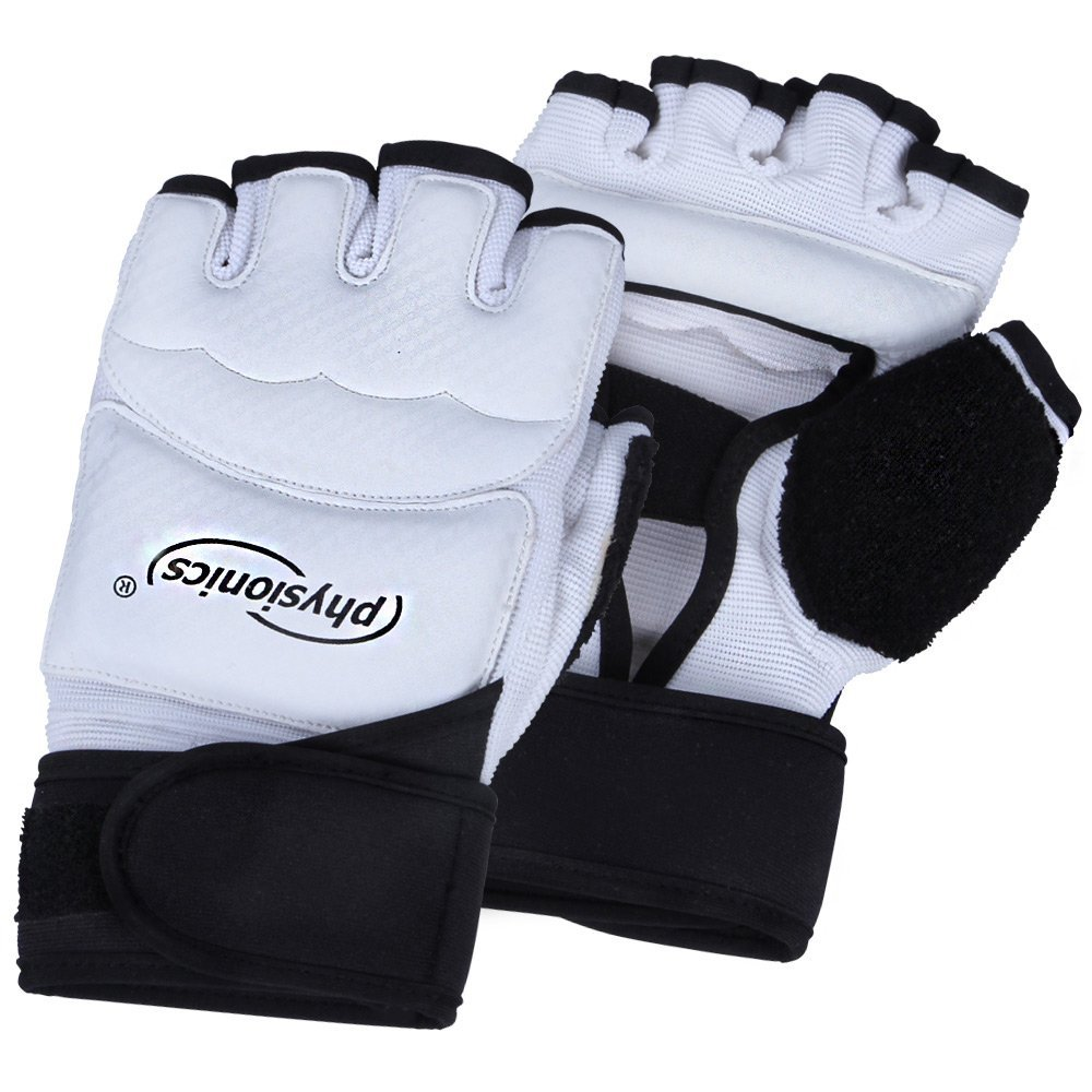 Physionics® BXHS01 - Guantes sin dedos para artes marciales mixtas