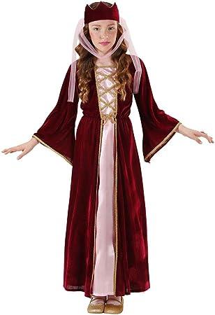 WIDMANN Sancto 12578, Doncella de Vestuario - Vestido de Reina Medieval con tocados en tamaño L=158 cm: Amazon.es: Juguetes y juegos