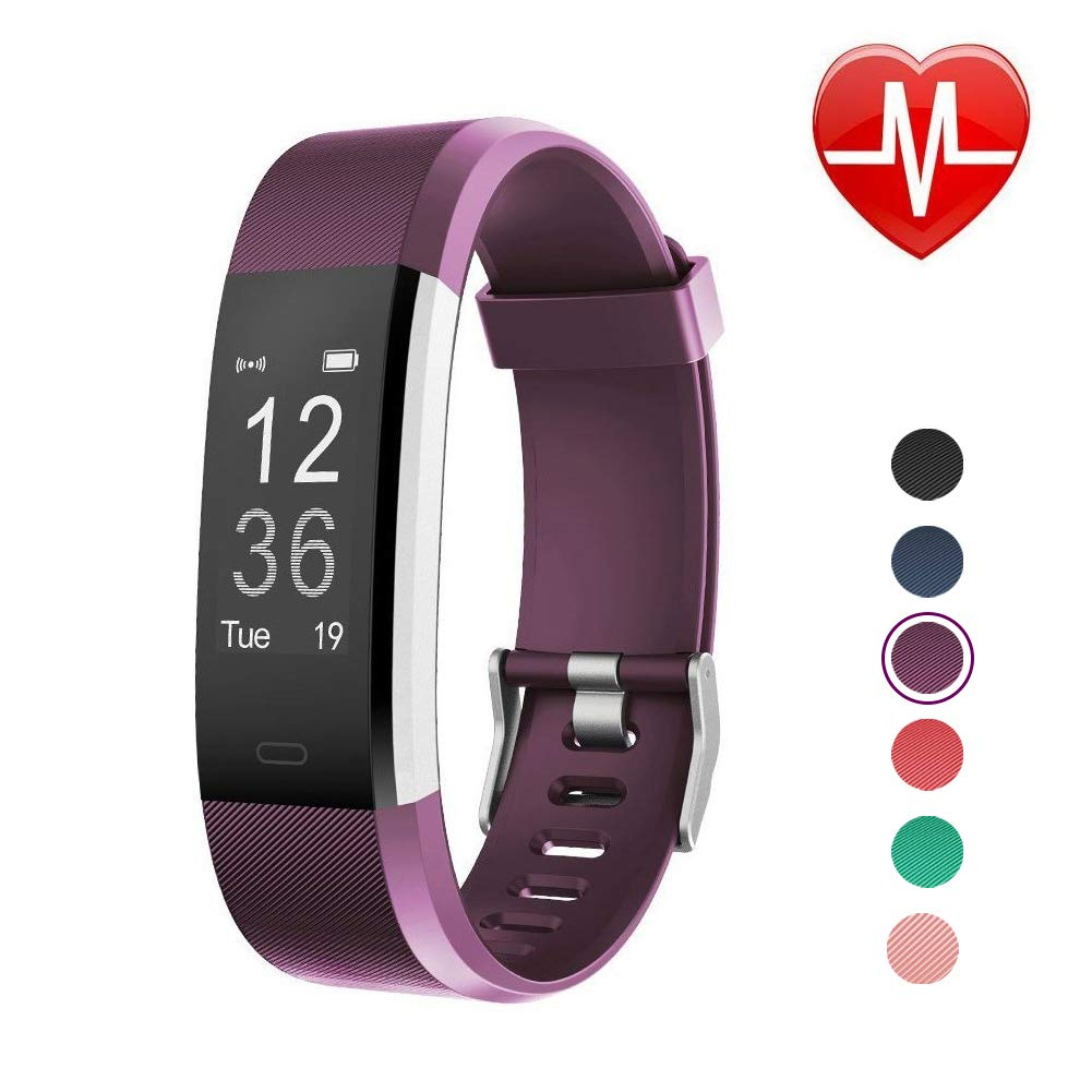 LETSCOM Fitness Tracker HR with Heart Rate Monitor, Activity Tracker Watch with Step Counter, Calorie Counter, Pedometer Watch for Kids Women and Men