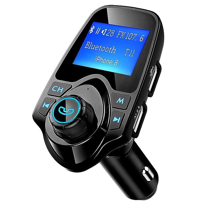 Transmetteur FM Bluetooth Voiture Mains Libres sans Fil Radio Adaptateur MP3 Joueur 2 USB Port