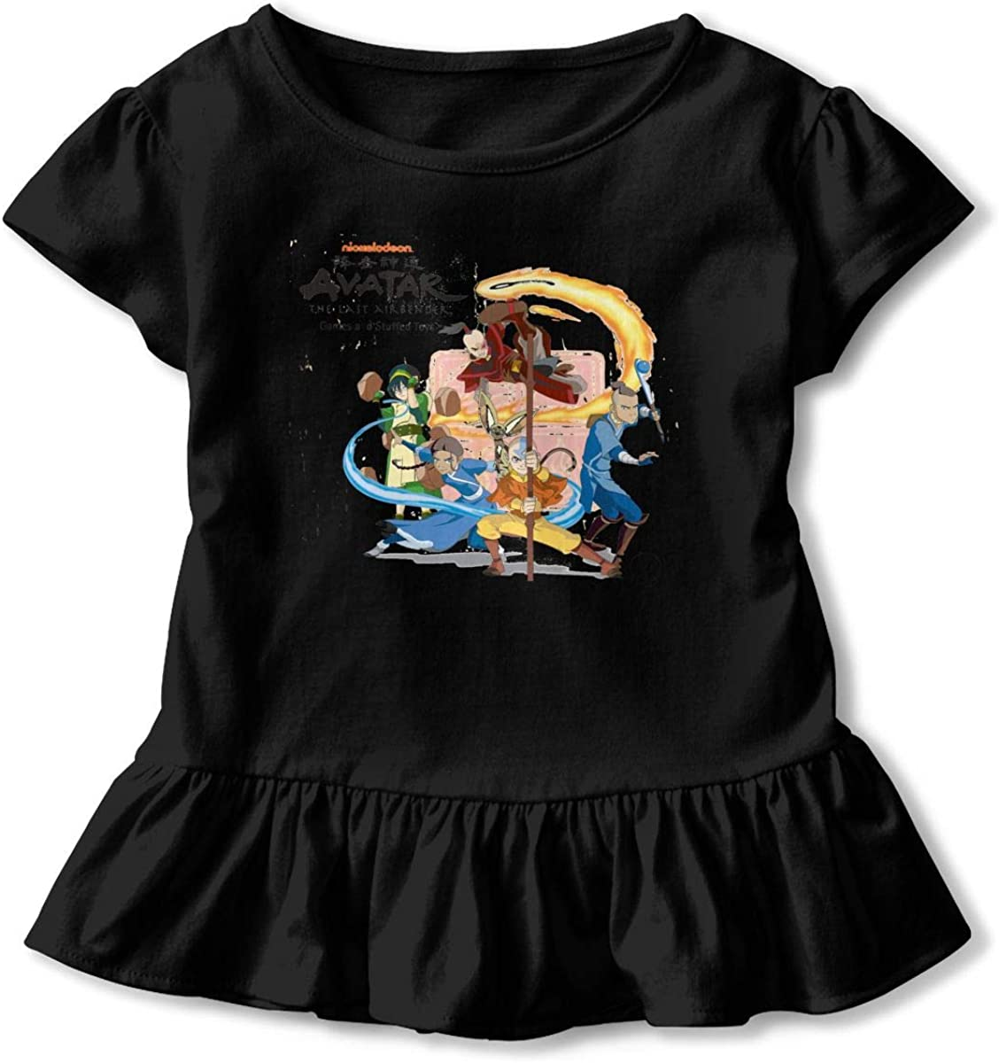 Avatar The Last Airbender Baby Anime Ruffled T-Shirt Baby Humorous GraphicsCrew Neck