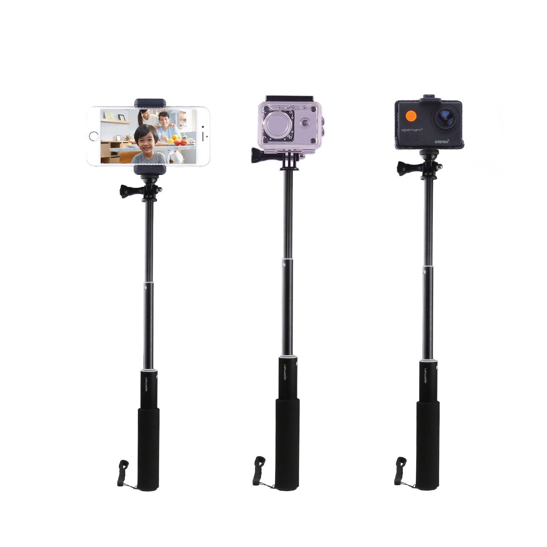 APEMAN Action Cam Einbeinstativ Ausziehbarer Selfie Stick Wasserdichter Handgriff Actionkamera A66//A60//A70//A80 und Smartphones