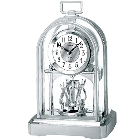 RHYTHM - Reloj de chimenea con péndulo cromado
