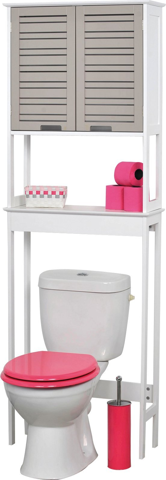 EVIDECO 9904302 So Romantic 24.8'' x 70.5'' Free Standing Over the Toilet  Space Saver Cabinet