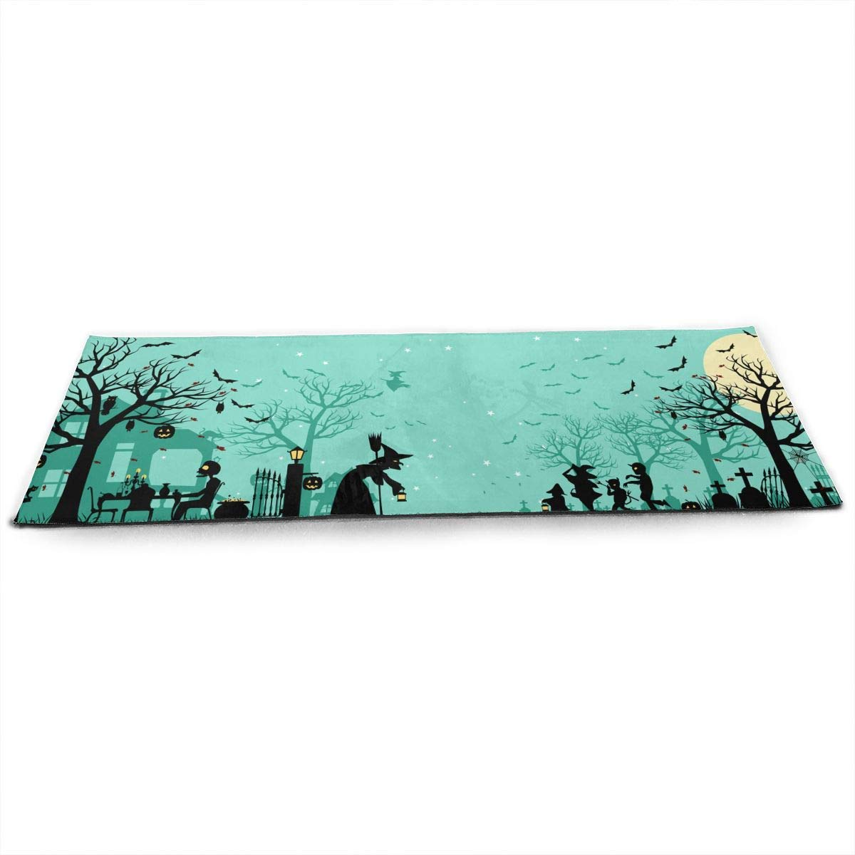 Halloween Shadow Celebration Happy Sorcerer Night Pumpkin ECO Aqua Power Kinematic Iyengar Kundini Hot Pilates Gymnastics Hatha Yoga Mat Exercise Mat