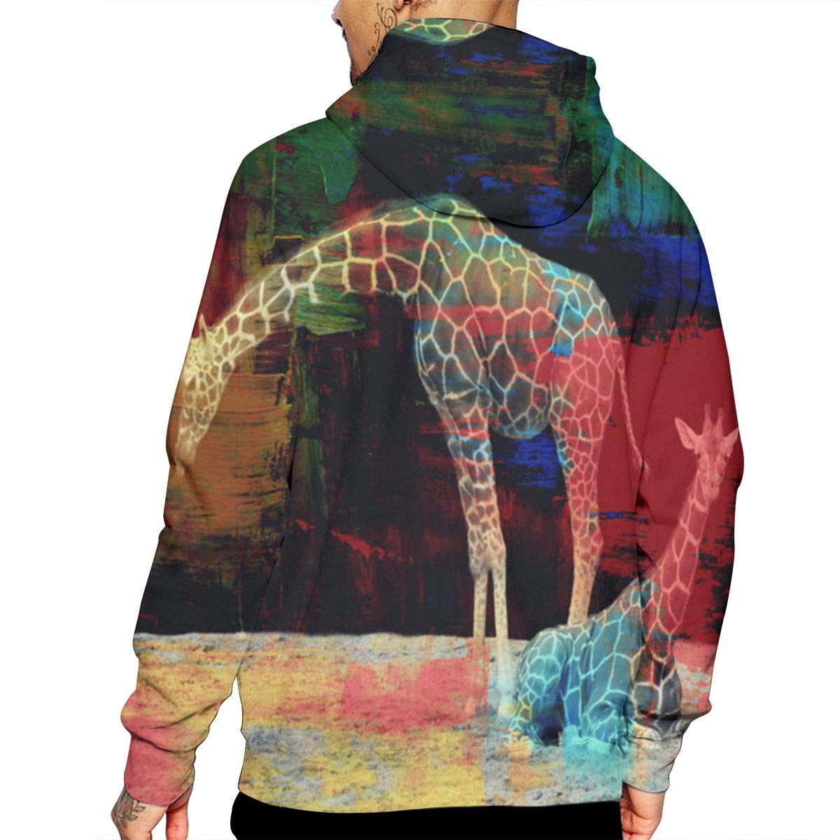 CHETI Giraffe Mens Pullover Hoodies Hooded Sweatshirts