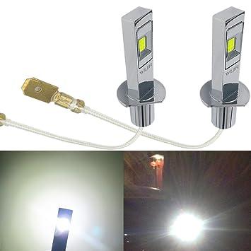 wljh H1 LED Niebla Luz Bombilla de alta potencia 80 W 1500 lúmenes seúl LG CSP chipsets Auto coche DRL luz diurna luces lámpara, pack de 2: Amazon.es: Coche ...