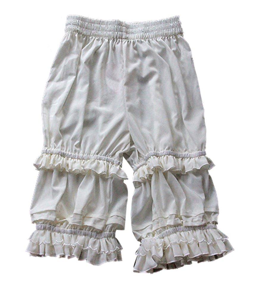 Women's Sweet Ruffle Lace White Lolita Bloomer Pantaloon - DeluxeAdultCostumes.com