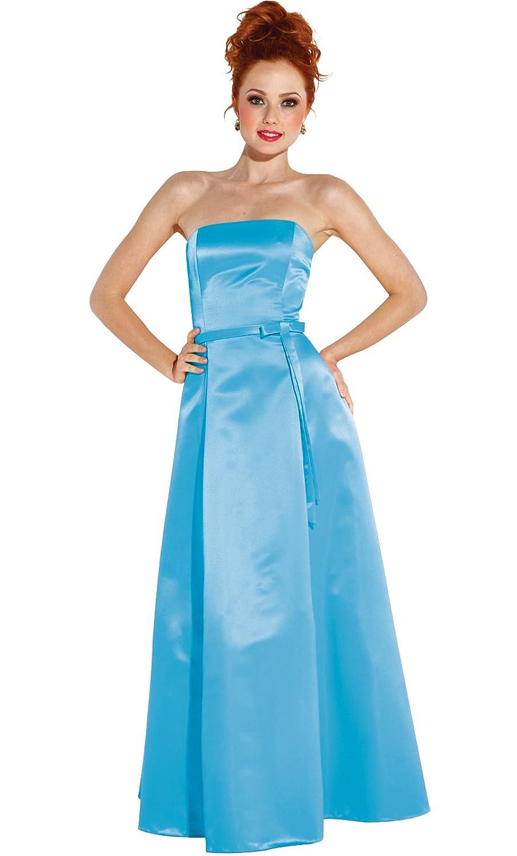 50s Strapless Satin Bridesmaid Bridesmaid Dress Homecoming at ...