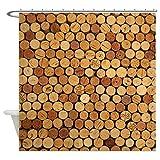 CafePress - Wine Corks 6 Shower Curtain - Decorative Fabric Shower Curtain