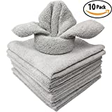 #4: The Mop Mobs Silver Microfiber Antibacterial Cloth Wipes Out Germs & Allergens To Protect Your Familys Health Without Harsh Chemicals! 10 Pack Super Soft Cleaning Towels That Wont Scratch or Streak