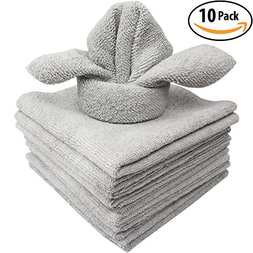 The Mop Mobs Silver Microfiber Antibacterial Cloth Wipes Out Germs & Allergens To Protect Your Familys Health Without Harsh Chemicals! 10 Pack Super Soft Cleaning Towels That Wont Scratch or - What With Clean To Glasses Your