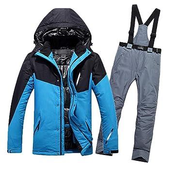 ZLULU Traje De Esqui Traje De Esquí para Hombre Chaqueta De ...